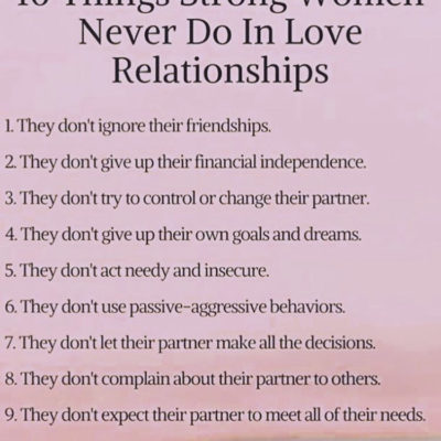 10 Things Strong Women Do in Love Relationships